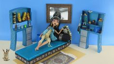Monster High Tutorial: Cleo de Nile Doll Bed - Recycling