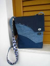 Bilderesultat for messenger bag diy jeans