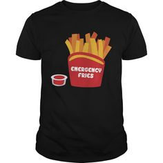 Get yours beautiful Emergency Fries Funny Fake Pocket French Fries Food Lover Best Gift Shirts & Hoodies.  #gift, #idea, #photo, #image, #hoodie, #shirt, #christmas