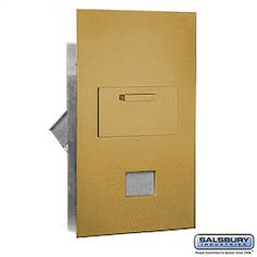 Collection Unit For 6 Door High 4B  Mailbox Units Gold Rear Loading USPS Access