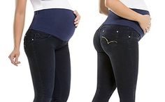 Maternity Butt Lift Jeans Stretch Push Up Pregnancy Waist Support  Levanta Cola ANABEL Size 12 * Click image for more details.Note:It is affiliate link to Amazon.