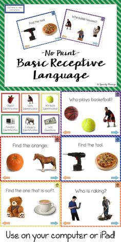 Print Basic Receptive Language Packet Speechy Musings: Check out this no print packet that works great on the iPad or computer!Speechy Musings: Check out this no print packet that works great on the iPad or computer! Speech Language Therapy, Speech Language Pathology, Speech And Language, Receptive Language, Communication And Language Activities, Preschool Language Activities, Autism Activities, Speech Therapy Activities, Listening Activities