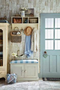 1001 ideas de recibidores originales con encanto recibidor pinterest recibidor mueble - Zapatero rustico ...
