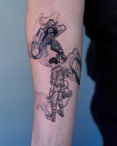 Oozy is a South Korean tattoo artist. He usually makes Blackwork tattoos. Oozy has received many awards in the field of art Manga Tattoo, Tattoo On, Anime Tattoos, First Tattoo, Body Art Tattoos, Arm Tattoos For Women, Tattoos For Guys, Akira, Korean Tattoo Artist