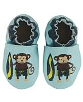 Robeez Baby Shoes, Baby Boys Surfer Monkey Shoes