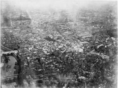 Photo aérienne de Paris en 1878