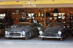 At Pebble Beach this August, Gooding & Company will offer a pair of original and unrestored Mercedes-Benz 300 SLs, a 1955 Gullwing and a 1957 Roadster, that have both been owned since new by a single family Mercedes Benz 300, Audi S5 Sportback, Mercedez Benz, Classic Mercedes, Subaru Wrx, Pebble Beach, Barn Finds, Luxury Cars, Dream Cars
