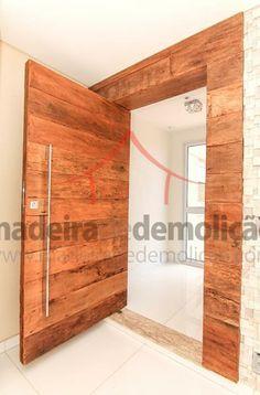 Portas em madeira de demolição: belas e seguras. #madeira #portas #demolicao