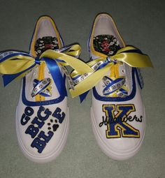 Hand painted school spirit shoes! :)