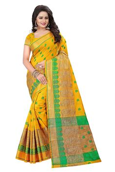 15f75fa7d3 Ecolors Fab Women s Cotton Silk Saree (EC 500 Series 2017 Sarees) (Black)   Amazon.in  Clothing   Accessories