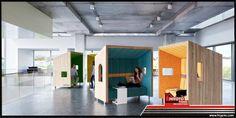 Ruang kerja modular rancangan Treehouse Architecture ini asik banget buat freelancer! Mau sendiri, bisa. Mau bareng-bareng, tinggal disatukan saja. Tetap nyaman dan punya privasi meski di tengah ruang publik sekalipun nih :) #DIY #arsitektur #ruangkerja #desainarsitektur