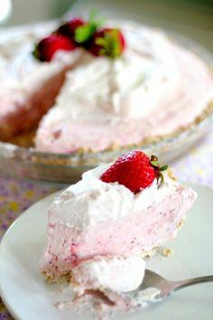 Strawberry and Coconut Icebox Pie