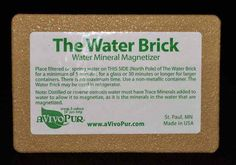 "Water Brink-- Water Mineral Magnitizer- aVivoPur. Are you looking for an easy every day method of improving your overall health? ""Magnetized Water"" can do just that while also helping regulate your body's pH, increasing your energy, and even helping to normalize circulation, blood pressure, and kidney function!"