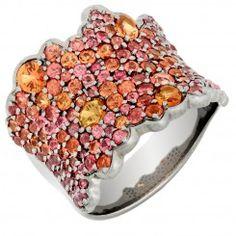 orange sapphire ring - Google Search
