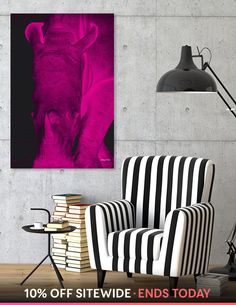 Discover «Rhino neon magenta 6085», Numbered Edition Canvas Print by Barbara Fraatz - From $59 - Curioos Framed Art Prints, Canvas Prints, Welcome Gifts, Saturated Color, How To Run Longer, Magenta, Cotton Canvas, Neon, Blanket