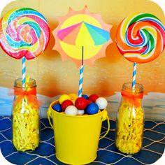 Disney Frozen Birthday Party Center Pieces by KraftsbyKaleigh