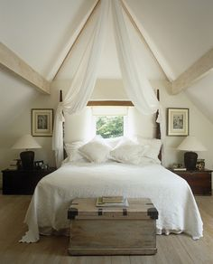 Bedroom Pitched Roof Design, Pictures, Remodel, Decor and Ideas - page 3