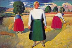 Reapers - Kazimir Malevich - WikiPaintings.org