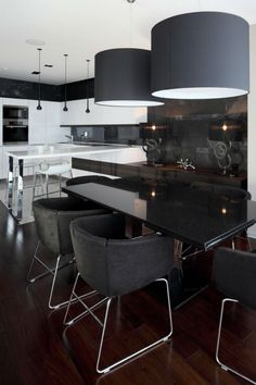 Contemporary Apartment Dining room Decoration by Geometrix Design Apartment Interior, Apartment Design, Kitchen Interior, Apartment Movers, Dining Room Design, Kitchen Design, Dining Area, Dining Table, Sweet Home