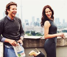 jennifer lawrence & bradley cooper.  they are truly too cute.  too bad they're not a real celeb couple bc they are darling.
