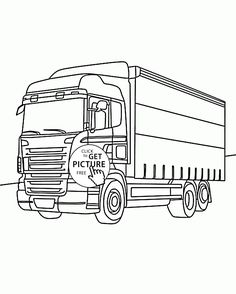 Nice Box Truck Coloring Page For Kids Transportation Pages Printables Free