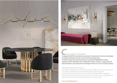 ZENITH suspension lamp and STREAMLINE wall lamp from CASTRO LIGHTING: www.castrolighting.com