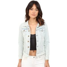 G-Star 3301 Denim Jacket in Scatter Denim (Light Aged Restored 72) (€130) ❤ liked on Polyvore featuring outerwear, jackets, blue, blue jackets, g star jacket, straight jacket, long white jacket and long denim jacket