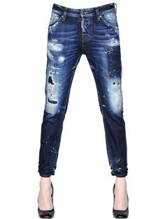 DSQUARED2 - COOL GIRL COTTON DENIM JEANS - LUISAVIAROMA - LUXURY SHOPPING WORLDWIDE SHIPPING - FLORENCE: