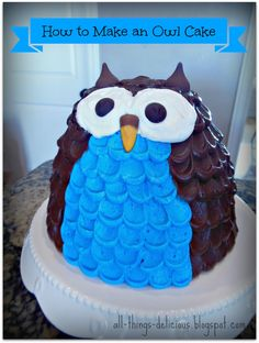 ALL THINGS DELICIOUS: How to Make an Owl Cake
