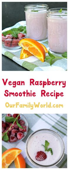 Smoothie recipes are a great way to start your morning when you're pregnant, and this delicious vegan raspberry smoothie is one of my favorite breakfast smoothies! It's not just bursting with yummy, healthy berries, it also packs a great protein punch. While it's delicious for anyone, this is tops on my list of smoothies for pregnant women! Check it out!