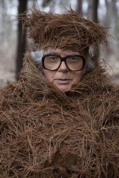 "Photographers, Karoline Hjorth and Riitta Ikonen have come up with something truly peculiar and special, in their photo series Eyes As Big As Plates. Their subjects are old, super serious and Finnish, all while wearing ridiculous ""organic"" head pieces and attire…need I say more?"