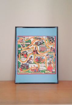 Vintage Framed Board Game - Piggly Wiggly Board Game by theindustrycottage on Etsy