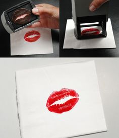 lipstick stamp. well, it's funnier if you DIY
