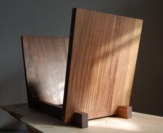 "12"" Vinyl LP Display - Beautiful Solid Walnut Holder  - Holds 60 x 12"" Vinyls -  Record Storage Display  - Audiophile"