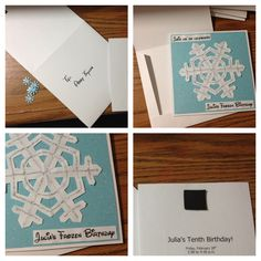 Scrapbook invitation - Beauty Frozen invitation - DIY
