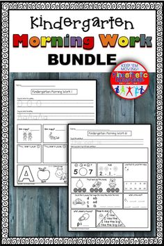 Here's a BUNDLE of my kindergarten morning work (without the movement). Buying these sets in a bundle will save you a bundle :)  These printable worksheets can be used as morning work or as homework. Language Arts and Math are reviewed on a daily basis and support the Common Core State Standards  There are 180 pages WITH ANSWER KEYS. Kindergarten Morning Work, Kindergarten Language Arts, Kindergarten Math, Reading Fluency Activities, Alphabet Activities, Teaching The Alphabet, Elementary Math, Printable Worksheets, Homework