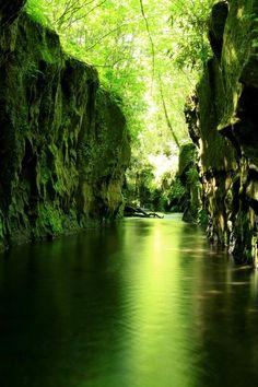Mysterious valley - Tarumae Garo Gorge, Tomakomai, Hokkaido, Japan