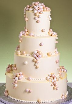 Mimosa Delight wedding cake