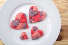 Patchwork Valentine Sugar Cookies - heart shaped cookies and treats