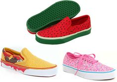 Cheeseburger, watermelon, & sprinkles VANS