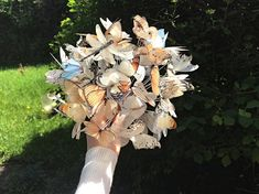 luxury cars - Wedding Bouquet with Silk Butterflies! Magic Wedding Bouquet of Butterflies, Butterfly Wedding Bouquet, Unique Wedding Bouquet, Butterflies Dragonfly Wedding, Butterfly Wedding, Wedding Flower Guide, Flower Bouquet Wedding, This Magic Moment, Gucci Floral, Unique Weddings, Perfect Wedding, Butterflies