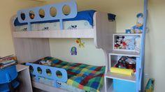 Κρεβάτι-κουκέτα και γραφείο σε χρώμα δρυς από Laminate Egger έπιπλα Καφρίτσας Αρης Bunk Beds, Loft, Furniture, Home Decor, Decoration Home, Double Bunk Beds, Room Decor, Lofts, Home Furnishings