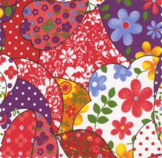 Fabric Finders, Inc. Print #863 Red/Gold/Purple
