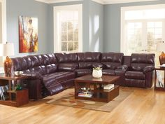 PRIMA - Modern Genuine Leather Recliner Sofa Couch Sectional Set Living Room #Handmade #Contemporary