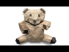 ORIGAMI FLUFFY - TEDDY BEAR TUTORIAL (Marc Kirschenbaum) 折り紙 テディベア Valentine's Day - YouTube