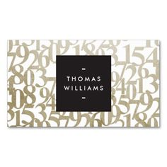 Gold Abstract Numbers for Accountants, Accounting Business Cards