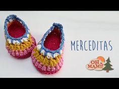 Tutorial Sandalias Bebé Crochet o Ganchillo Baby Shoes (English Subtitles) - YouTube Crochet Slipper Pattern, Crochet Baby Shoes, Crochet Baby Clothes, Crochet Slippers, Crochet Patterns, Crochet Baby Blanket Beginner, Baby Knitting, Crochet For Kids, Diy Crochet