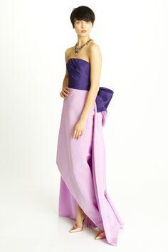 oscar-de-la-renta-pre-fall-2014-purple and pink dress