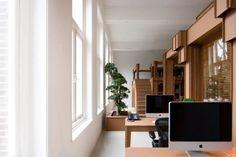 Cardboard office design.