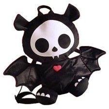 Skelanimals Diego the Bat plush backpack